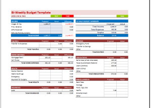 Weekly Budget Template Budget Templates For Excel