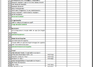 Budget Proposal Format in Excel®