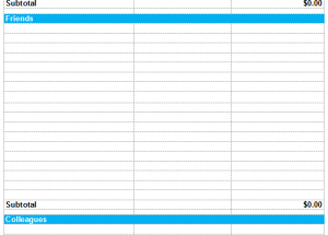 Christmas Shopping Budget Template in Excel®