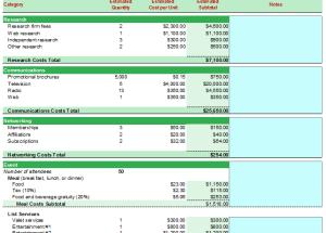 Marketing Budget Plan Format