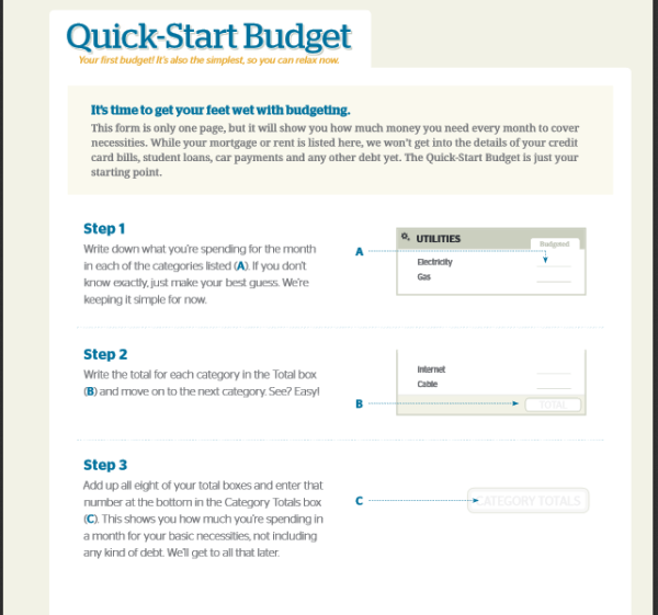 Quick Start Budget File - Dave Ramsey
