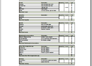 Small Business Budget Template Budget Templates For Excel - Budget for business plan template