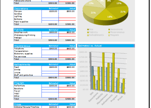 event planning budget planner budget templates for excel